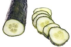 Cucumber - completely isolated Royalty Free Stock Image