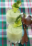 Cucumber cream soup. Stock Image