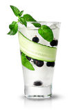 Cucumber currant and mint lemonade Stock Images