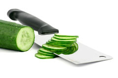 Cucumber cut Stock Photos