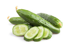 Cucumber cut group Royalty Free Stock Photos