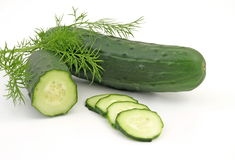 Cucumber with dill Stock Photos