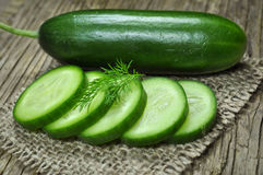 Cucumber and dill Stock Photo