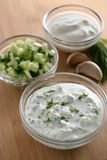 Cucumber dip Royalty Free Stock Photos