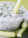 Cucumber Dipped In Tzatziki Stock Image