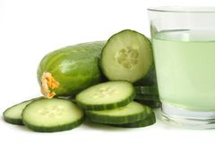Cucumber drink Stock Photo