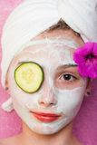 Cucumber eye at a spa Stock Photos