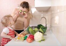 Cucumber eyes Stock Images