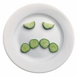 Cucumber face Stock Image