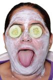 Cucumber face pack Stock Photography