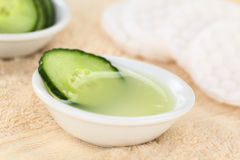 Cucumber Facial Toner Stock Image