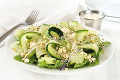 Cucumber feta cheese salad Stock Photos