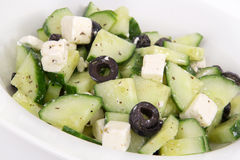Cucumber and feta salad Royalty Free Stock Images
