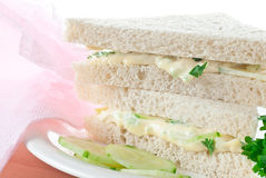 Cucumber Finger Sandwich Royalty Free Stock Photography