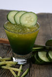 Cucumber fresh juice Stock Photography