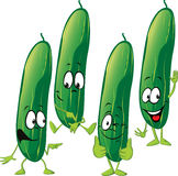 Cucumber - funny vector cartoon Royalty Free Stock Photo
