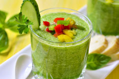 Cucumber gazpacho. Royalty Free Stock Images