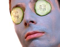 Cucumber gray mask Royalty Free Stock Photo
