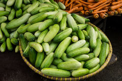 Cucumber green in basket photo taken in bogor jakarta indonesia Royalty Free Stock Image