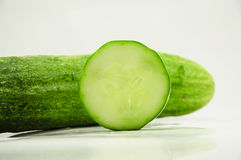 Cucumber. Green and white background Royalty Free Stock Photography