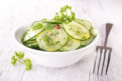 Cucumber and herbs Royalty Free Stock Photo