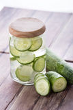 Cucumber infuse water Stock Images