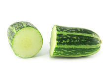 Cucumber isolated. On white background Stock Photography