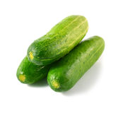 Cucumber isolated over white background. Stock Photography