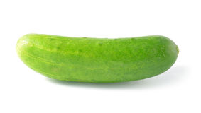 Cucumber isolated over white background. Stock Photos