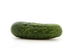 Cucumber isolated over white Royalty Free Stock Photo