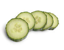 Cucumber Isolated. Isolated sliced Cucumber on White royalty free stock image