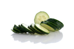 Cucumber isolated on white Stock Images