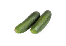 Cucumber isolated Stock Images