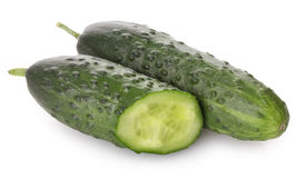 Cucumber isolated on white background Royalty Free Stock Photos