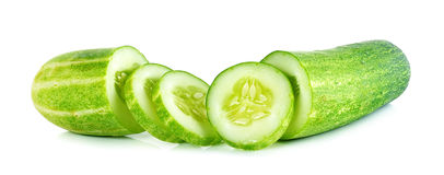 Cucumber isolated on the white background Stock Images