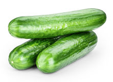 Cucumber isolated on white Royalty Free Stock Image