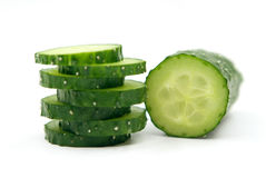 Cucumber isolated on white background close up. Cucumber isolated on white background close up Stock Photos