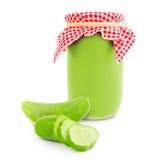 Cucumber jar Royalty Free Stock Image