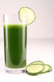 Cucumber juice Stock Images