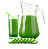 Cucumber juice Royalty Free Stock Image