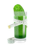 Cucumber juice and meter Royalty Free Stock Image