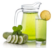 Cucumber juice Royalty Free Stock Photo