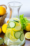 Cucumber and lemon drink Royalty Free Stock Photos