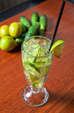 Cucumber lemonade Stock Images