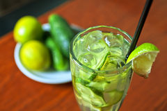 Cucumber lemonade Royalty Free Stock Images