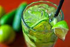 Cucumber lemonade Stock Photos
