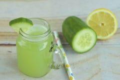 Cucumber Lemonade. Fresh cucumber lemonade in a jar Stock Photography