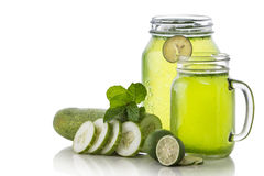 Cucumber and lime mix juice Stock Photo