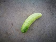 Cucumber lying on the corrosion board Royalty Free Stock Images