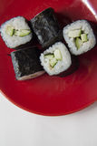 Cucumber maki Stock Photography